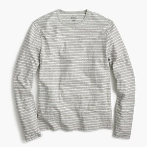 J.Crew long sleeve striped cotton tee